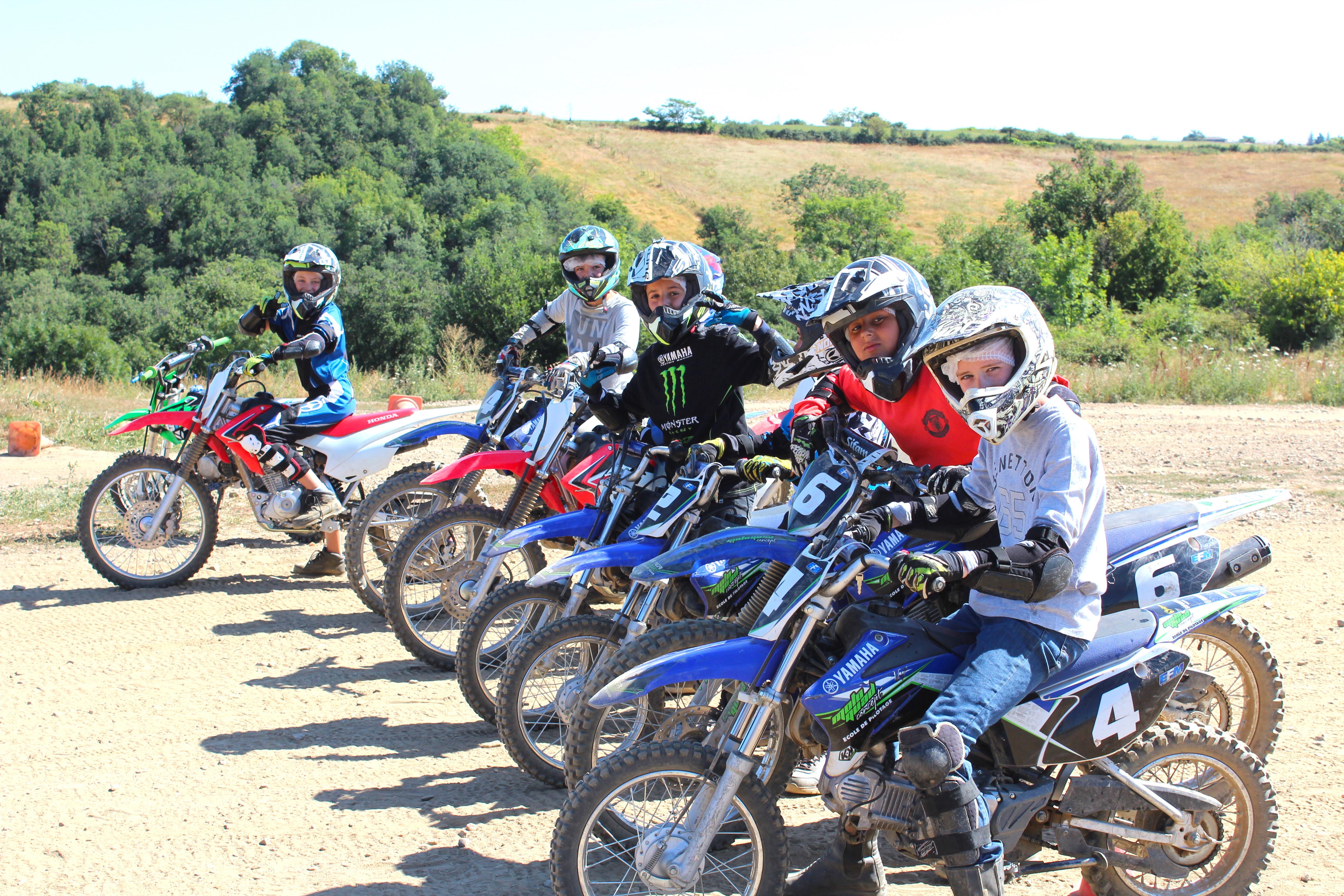 prestation de service moto cross et quad colonies de vacances